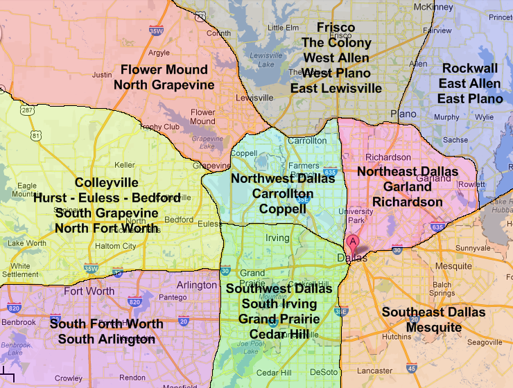 Map Of Dallas Area | My blog